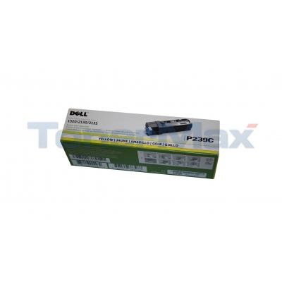 DELL 2130CN TONER CARTRIDGE YELLOW 1K